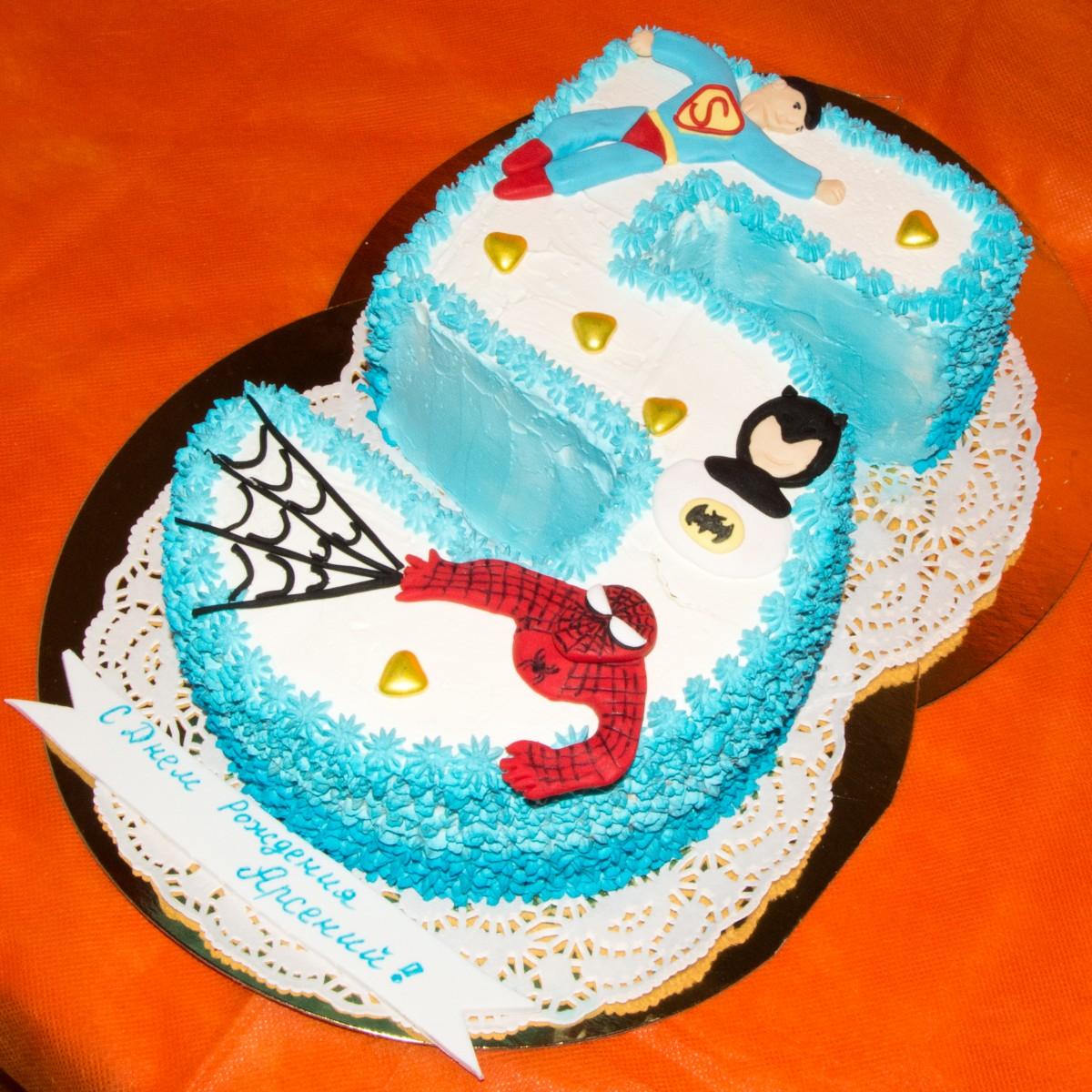 Торт цифра 2 своими руками фото
