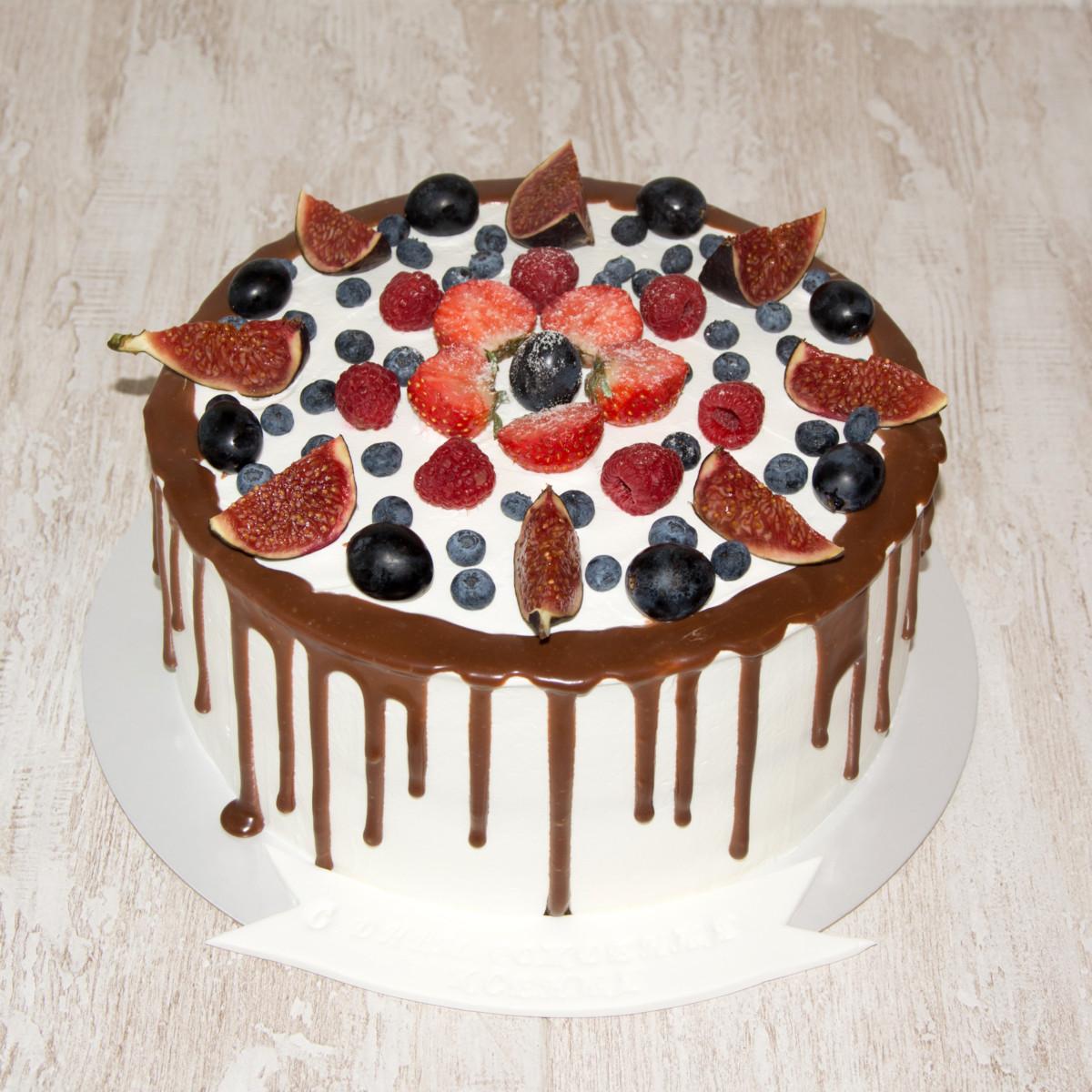 Как украсить торт в домашних условиях без мастики фото