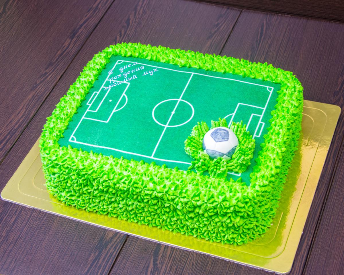 Как на торте сделать футбольное поле 640